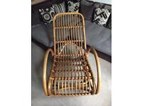 Stunning RATTAN BAMBOO rocking chair