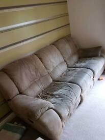 3 & 2 seater recliner sofa