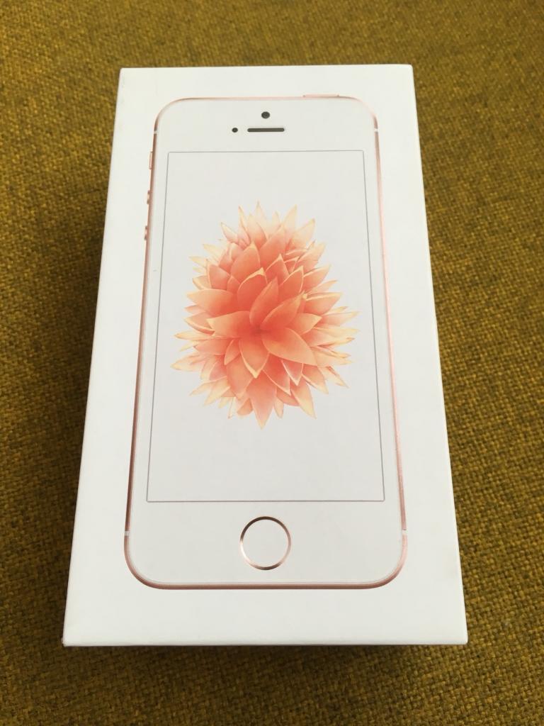 Brand new Iphone se 64gb rose gold