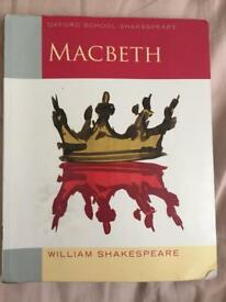 Macbeth book for sale, english literature