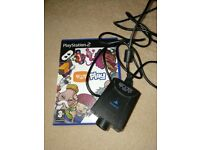 Playstation 2 eye toy and game