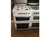 Flavel white 60cm gas cooker (Dual fuel)