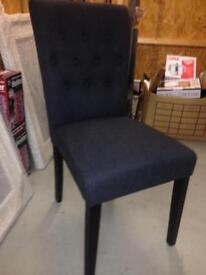 FLYNN MIDNIGHT BLACK DINING CHAIR (only one)