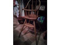 Wooden Baby Highchair