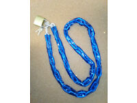 SECURITY STEEL CHAIN AND PADLOCK