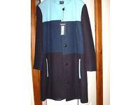 Ladies Colour Block M and S warm Coat ---size 14