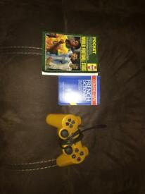 PS3 Controller, Dictionary, Football Players Book