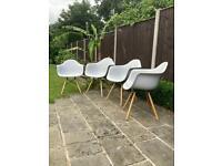 Designer Tub chairs x4