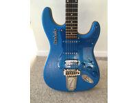 Italia Modulo Tipo 1 - Fender Stratocaster Style Electric Guitar - Blue Crocodile-Tolex