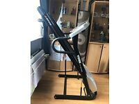 York treadmill, perfect condition, easily folded for space and easy to move around.