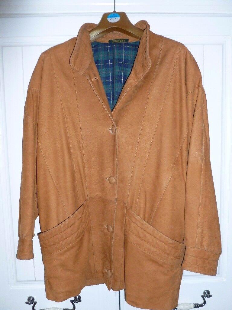 Vintage Ladies Suede Coat