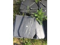 Slate roof tiles new surplus to requirements