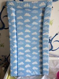 Blue changing matt hardly used