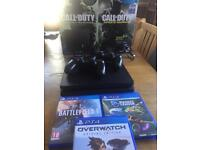 Ps4 with 2 controllers & 3 games
