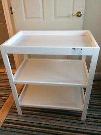 Changing Table White Mothercare