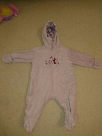 0-3 months girls snowsuit in immaculate condition from a smoke and pet free home.