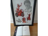 CARL FOGARTY LIMITED EDITION PRINT AND SIGNED AUTOBIOGRAPHY