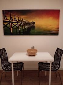 Very large box canvas wall art sea colourful tropical print ( big picture / painting) 180cm x 88cm