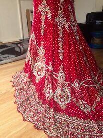 Indian Asian Designer Bridal Lengha Wedding Dress