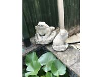 Pond filter, fountain and ornaments
