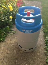 Cepsa Spanish 11 KG Lightweight Propane Gas Bottle Brand New , Full ,never used