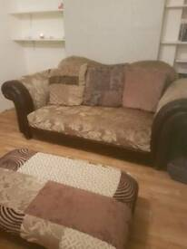 2 Seater Decorative Sofa with matching foot stall