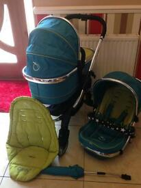 Icandy peach travel system in sweet pea