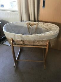 Baby Moses Basket with Stand (Excellent condition)