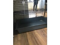 2 Lion head rabbits, inside cage, old hutch and feeding equip