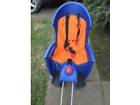 CHILDS HAMAX SIESTA BLUE WITH ORANGE TRIM BICYCLE SEAT FRAME MOUNT