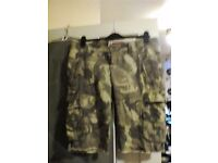 Camo 3\4 trousers size 12