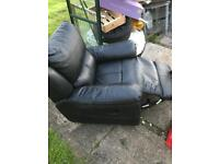 Single recliner leather seat