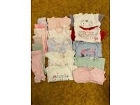 Baby girl newborn first size up to 1 month bundle almost 30 items