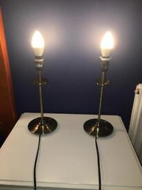 2 antique style lamps