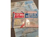 Maps an atlas big poster map vintage