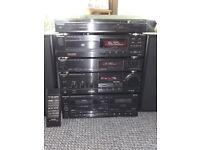 Technics Stereo stacking amp turntable tape deck CD Radio