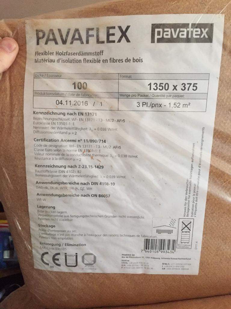 Woodfibre insulation