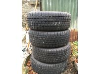 Set of four winter tyres, used once, good condition