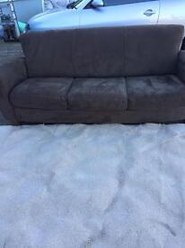 3 seat moleskin sofa