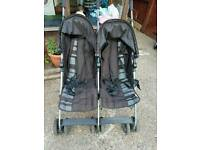 Mammas and pappas double pushchair