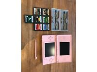 Nintendo DS Lite Pink + 7 games and holder