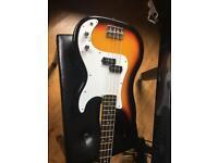 Sunset electric bass