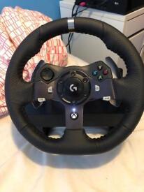 Logitech G920 force feedback racing wheel