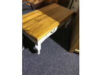 As new solid coffee table with drawer