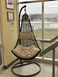 Brand New Swing Chair Hammock Stand Two Cushions And Basket