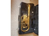 Yamaha Tenor Horn, Gig Bag & Accessories For Sale