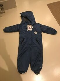 Snow suit, blue, waterproof, Mini a Ture - BNWT, Age 4