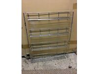 Aluminium Spice Rack 4 shelves