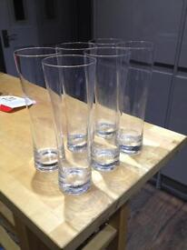 6 tall glasses