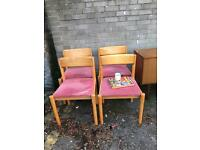 1950s-1960s CHAIRS FREE DELIVERY SOLID AND STURDY VINTAGE CHAIRS